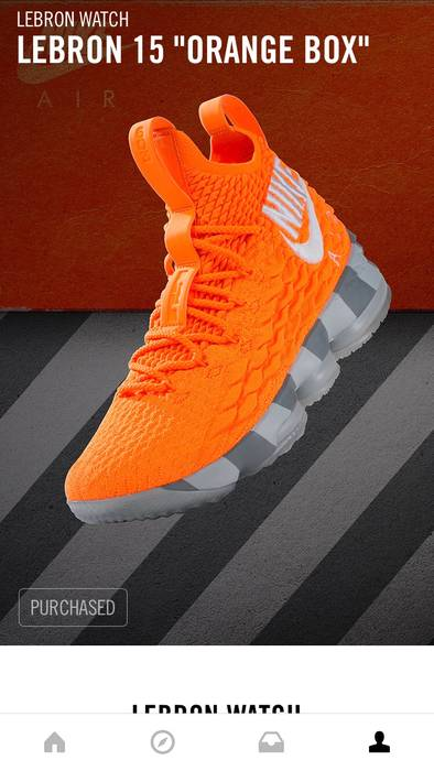 Nike Lebron 15 Orange Box Size 10 - Hi-Top Sneakers for Sale - Grailed 3893cf906