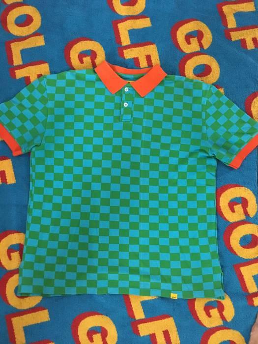 a75e518c474 Golf Wang blue   green checkered polo Size m - Polos for Sale - Grailed