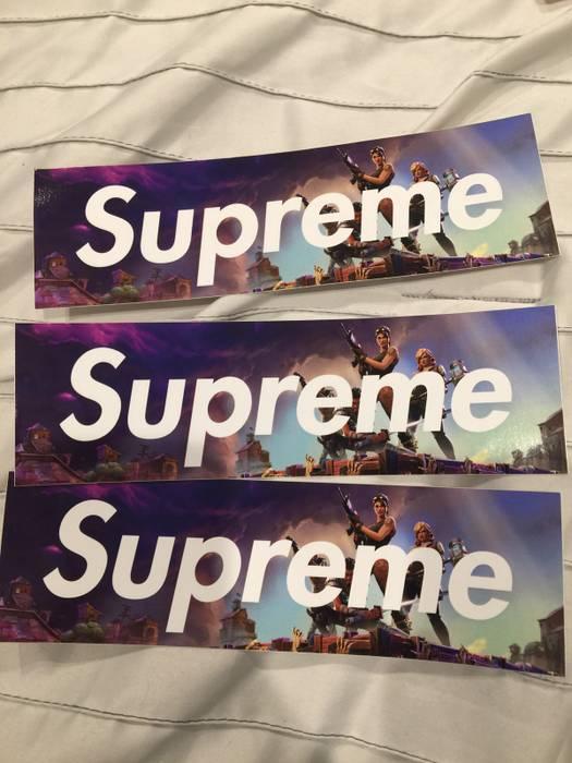 Supreme Supreme Fortnite Sticker Size One Size Miscellaneous For
