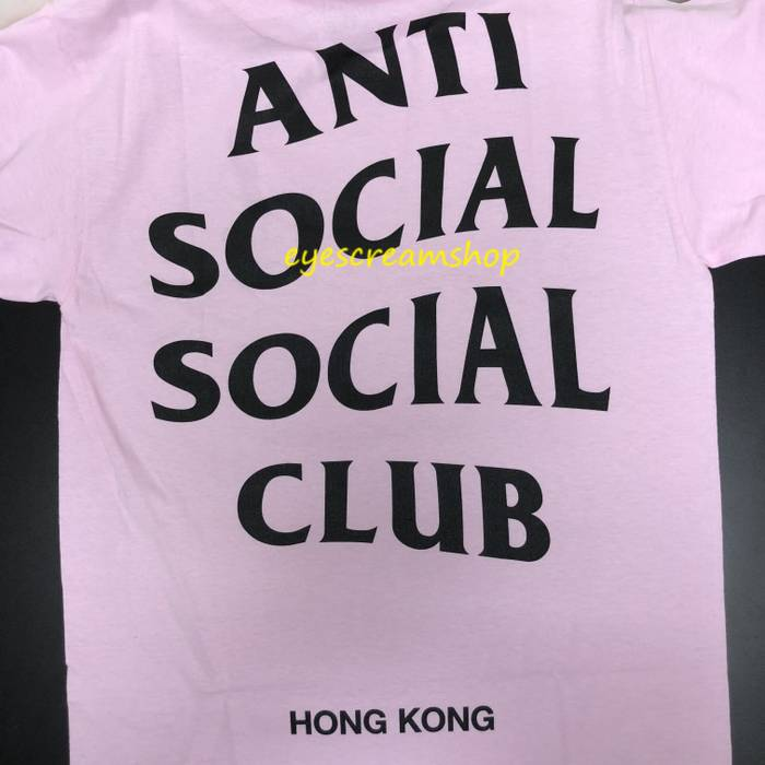 136cfad8 Antisocial Social Club. DS Auth 18 Anti Social Social Club ASSC HK hong  kong city logo Pink/black Tee ...