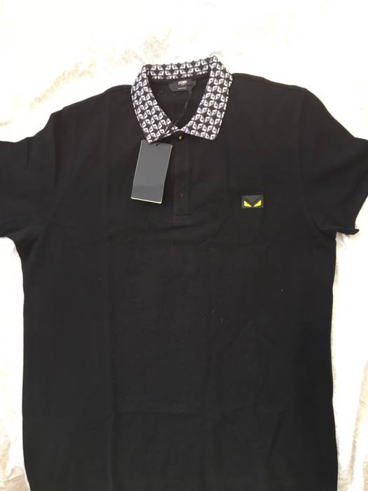 Fendi Fendi SS 17 Black Bugs Monster Polo 52 Size l - Polos for Sale ... 8938a6cd03be