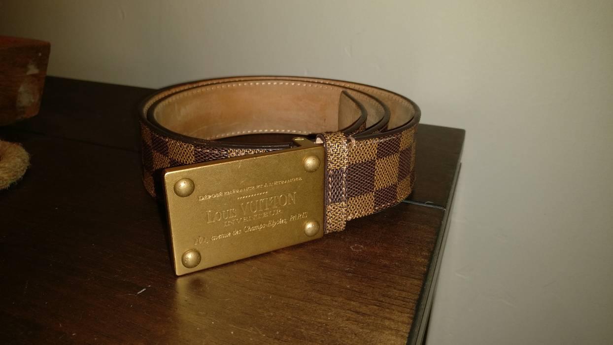 198cc26fb394 Louis Vuitton LV Gold Inventeur Belt 38 95 Size 38 - Belts for Sale ...