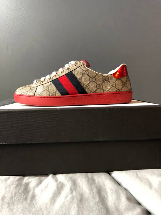 a194efa3cf4 Gucci Gucci Ace Red Bottom Size 10 - Low-Top Sneakers for Sale - Grailed