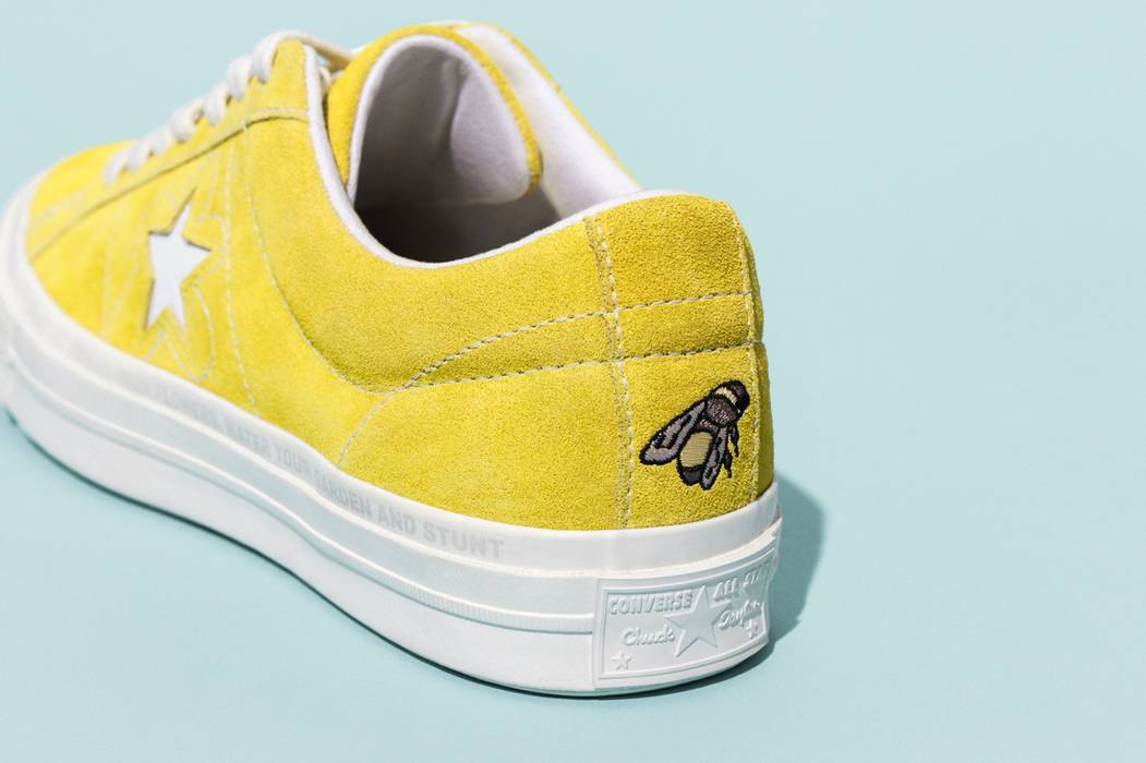 Golf Wang Yellow Golf Le Fleur Converse Size 11.5 - Low-Top Sneakers ... 551dfe263