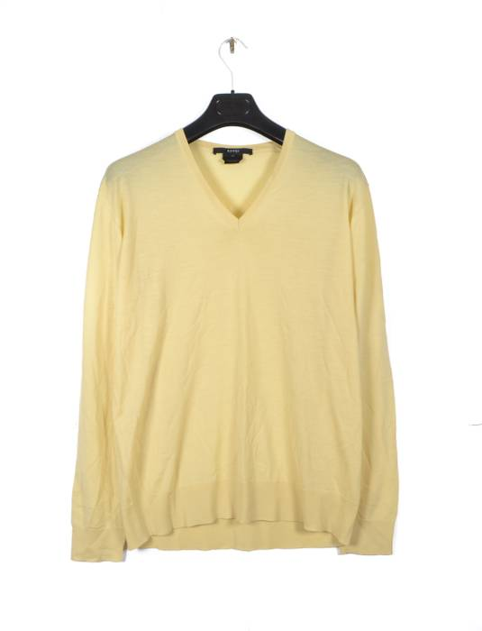 Gucci Summer Wool Light Yellow Sweater Size Xl Sweaters Knitwear