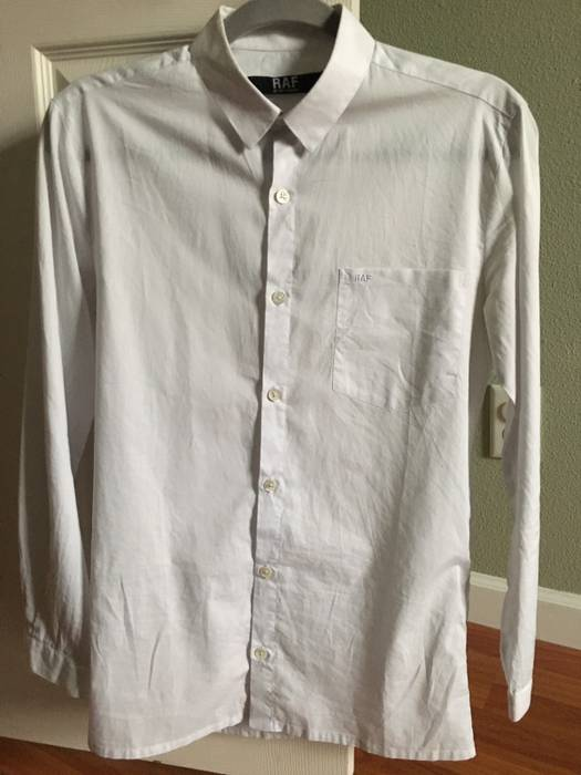 b25fb4ee Raf Simons White Long Sleeve Dress Shirt Size Xs Shirts On. Raf Simons X  Fred Perry ...