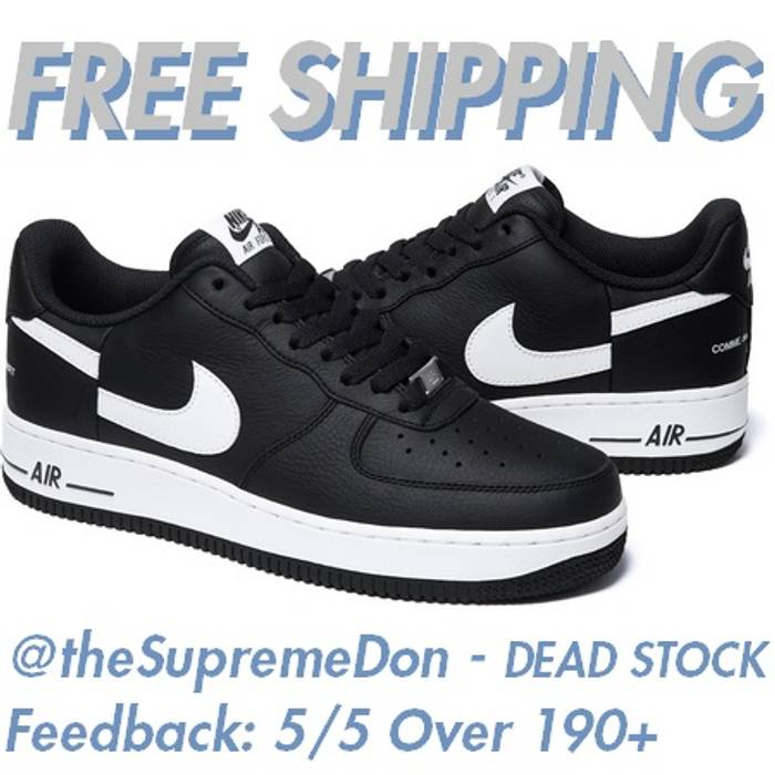 Supreme Supreme CDG Air Force 1 Low   FREE SHIPPING   FW18 dead stock comme  des garcons air force one play shirt homme plus cdg box logo beanie black  white ... ea993efb7
