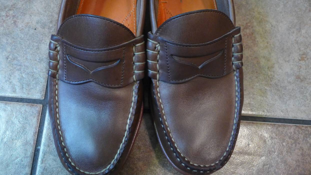 23219ab7488 Rancourt   Co. Natural CXL Chromexcel Beefroll Penny Loafer Size US 9   EU  42