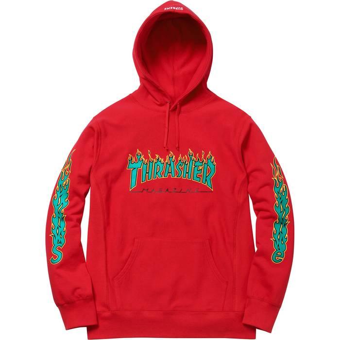 Supreme Supreme Thrasher® Hoodie - Red Size m - Sweatshirts ... 328c1f1a6c8c