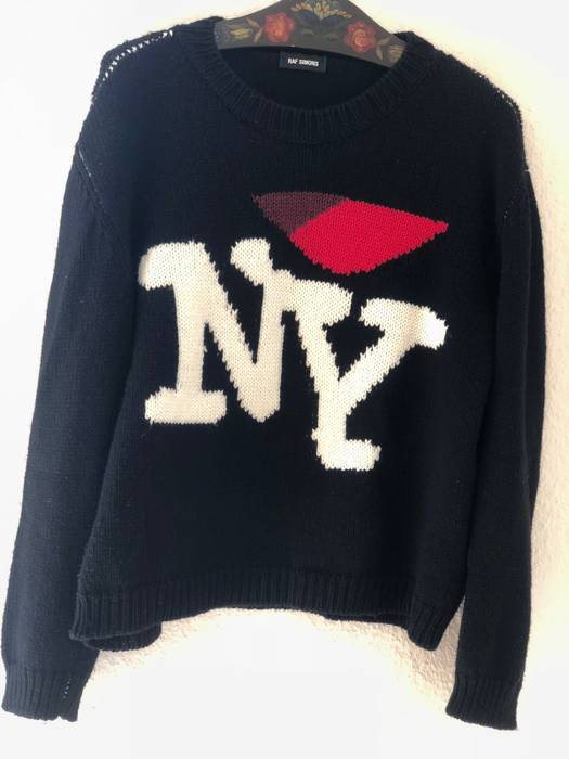 Raf Simons I Love Ny Sweater Size L Sweaters Knitwear For Sale