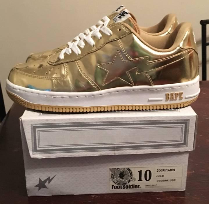 Bape Bape Gold Bapestas Roadsta Size 10 - Low-Top Sneakers for Sale ... 92e7b41c27