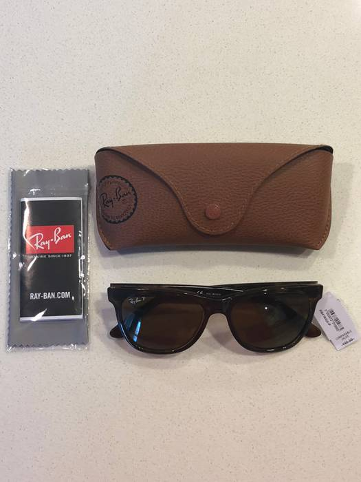 ff201c10eab RayBan Authentic RAY-BAN RB4184 710 83 Tortoise Nylon Brown Polarized  Sunglasses  178 Size