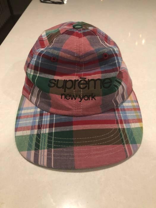 Supreme Supreme Madras Classic Logo Plaid Hat Size one size - Hats ... dab565862c0
