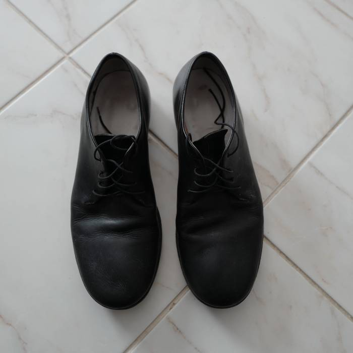Ma Ma One Piece Derby Black Calf Size 9 Casual Leather Shoes For