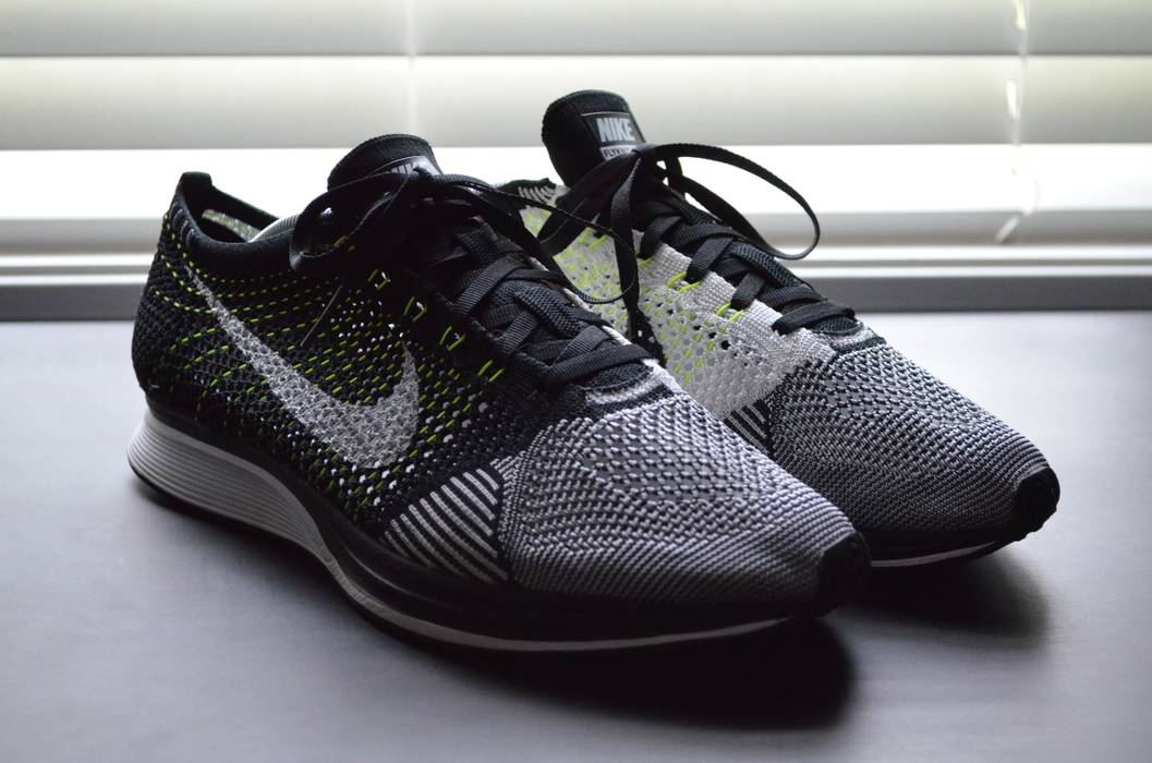 Nike Flyknit Racer Black White-Volt Size 11 - Low-Top Sneakers for ... 36a1b27c1