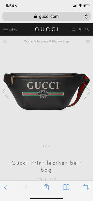 65edd00376bb Gucci Gucci Print Leather Belt Bag Size one size - Bags & Luggage ...