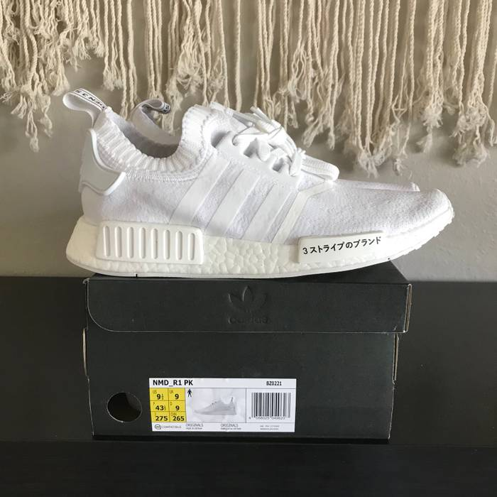9042aa61f5003e Adidas NMD PK Japan Boost Triple White New Size 9.5 - Low-Top ...