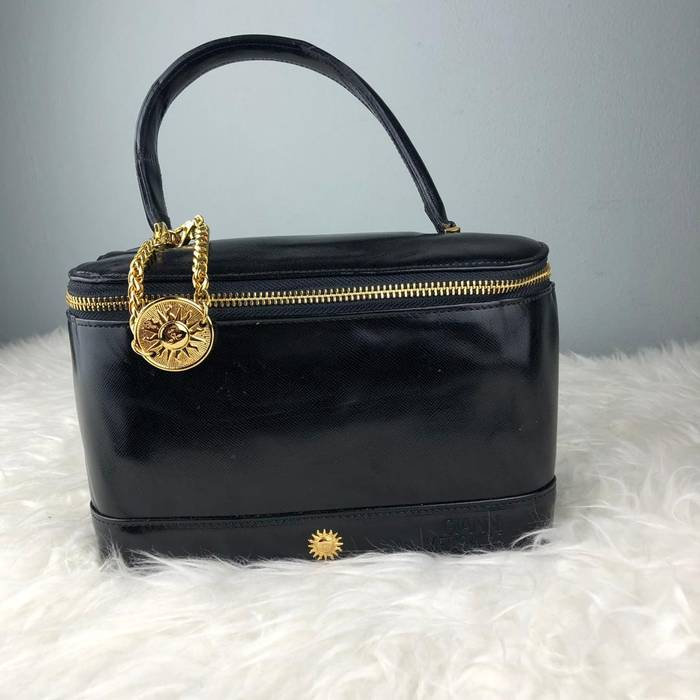 a18ce7239cda Versace. RARE   COLLECTION Authentic Gianni Versace Black Leather Cosmetic  Bag ...