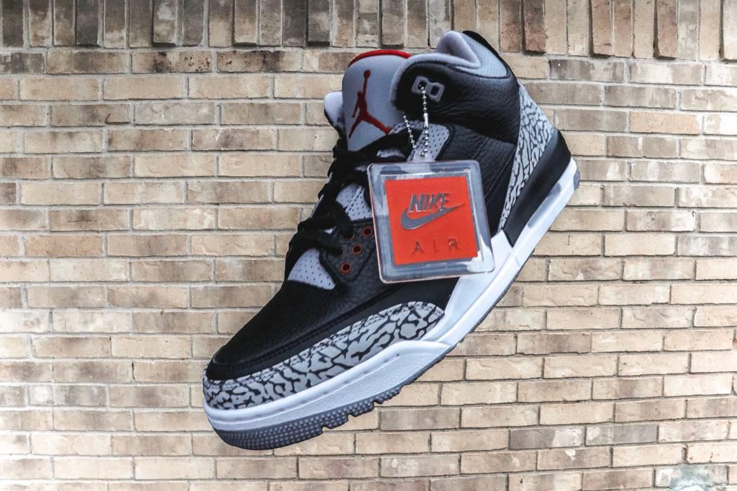 837b3fb0596e05 Jordan Brand. Jordan 3 Retro Black Cement 2018. Size  US 10.5   EU 43-44