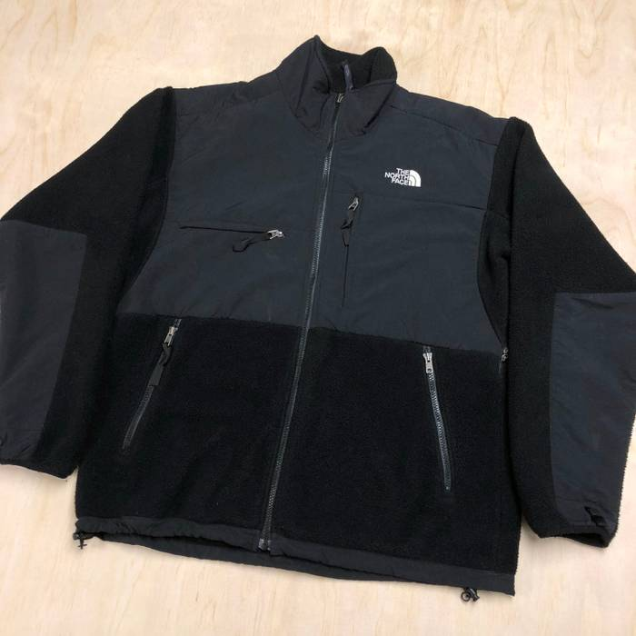 a8bd1d44b0 Vintage 2000s TNF The North Face Denali Fleece Zip Up Windbreaker Jacket  Black VTG Size US