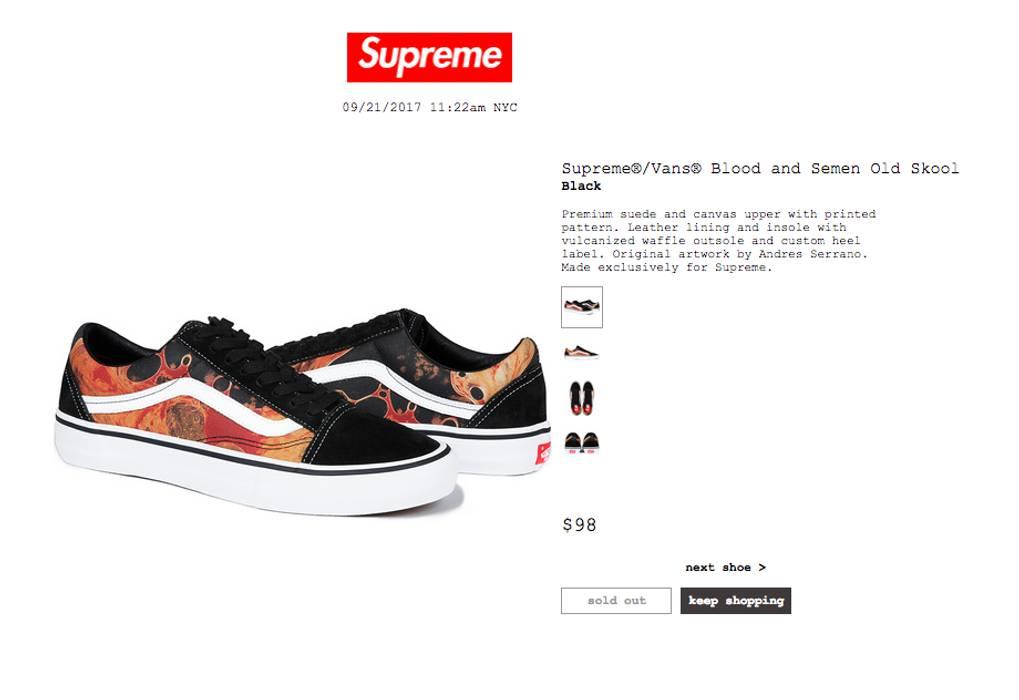 Supreme Supreme Vans® Blood and Semen Old Skool Size 9 CONFIRMED Size US 9   5cea39b81