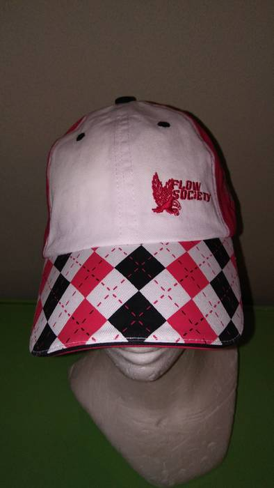 Other. NWT Flow Society Lacrosse Golf Baseball Hat Red   Black Argyle  Strapback 6f39fc9e0f9