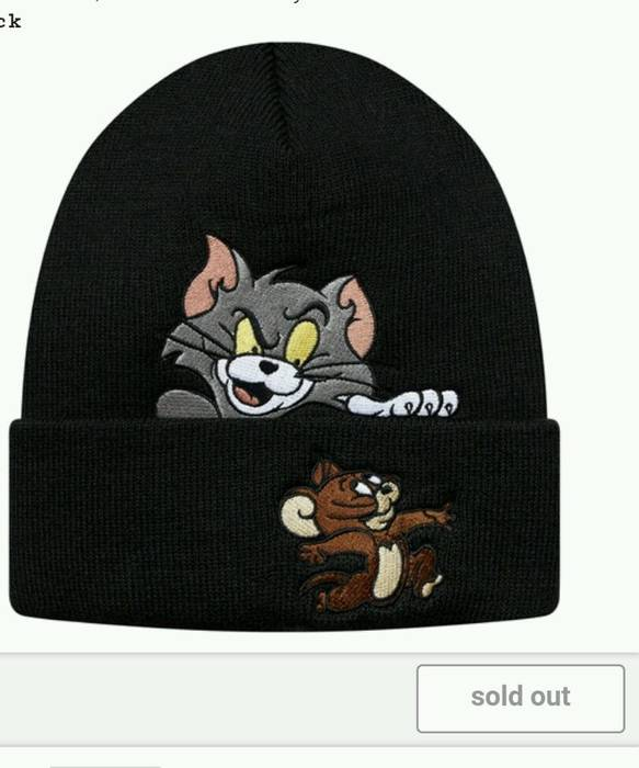 c6b9addb54c Supreme Supreme Tom and Jerry Beanie black FW16 Brand-new with tags ...