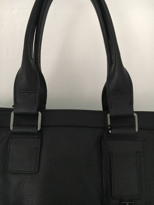 Versace Black Leather Versace Tote Bag Size one size - Bags ... 6508001889
