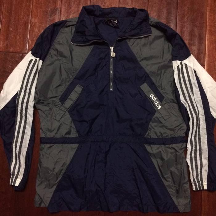 d517273d540c Adidas Vintage Adidas Color Block Navy 1 2 Zip Up Pullover Windbreaker  Jacket Size US