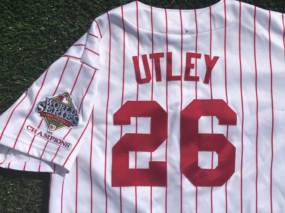 Majestic CHASE UTLEY World Series Champs PHILADELPHIA PHILLIES Baseball  Jersey Size US XL   EU 56 180047a351e