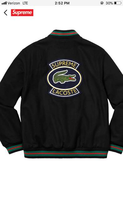 Supreme Supreme Lacoste Varsity Jacket Size Large Size L
