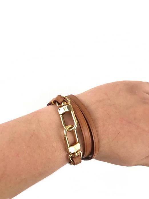 Louis Vuitton Leather Wrap Bracelet Size One Size Jewelry