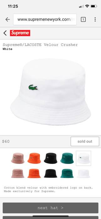dbcf242b516 Supreme Supreme X Lacoste Bucket Hat Size one size - Hats for Sale ...