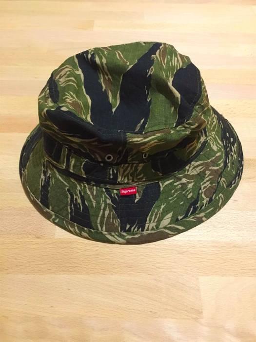 51c78aa9003 Supreme OG Supreme tiger stripe bucket hat camo vintage cap original ...