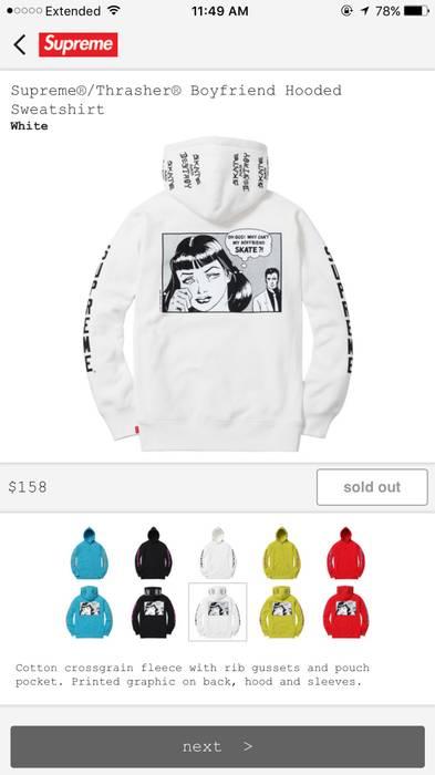 Supreme Supreme Thrasher Boyfriend Hoodie Size m - Sweatshirts ... 7cd17aa82896
