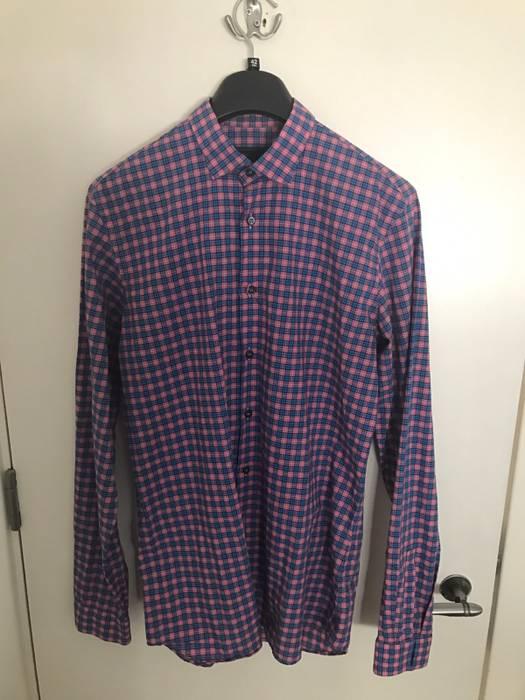 137bee9ef6f9 Prada Prada Rare Pink   Blue Checked Shirt Size m - Shirts (Button ...