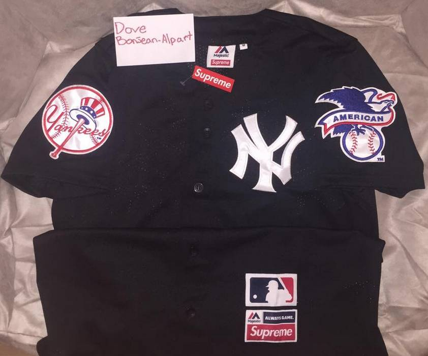 Supreme Supreme x The Yankees Jersey Size m - Jerseys for Sale - Grailed 4ff7c9b38ec