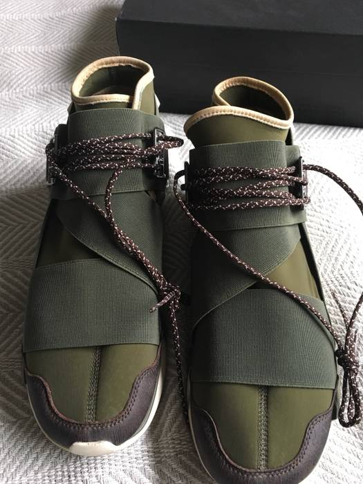 6cf8ff94f Y-3 Olive Green Qasa High Size 10.5 - Hi-Top Sneakers for Sale - Grailed