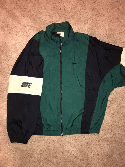 Nike Vintage Nike Track Jacket Light Jacket Windbreaker Green Zip Up Forest Military  90s Colorful Parka 2c8af13d1