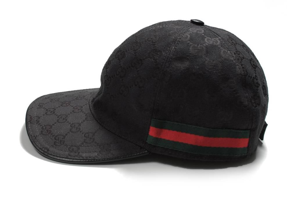 Gucci Original Gucci Leather Details Black Men Monogram Summer Hat ... 56d6eaa69bb1