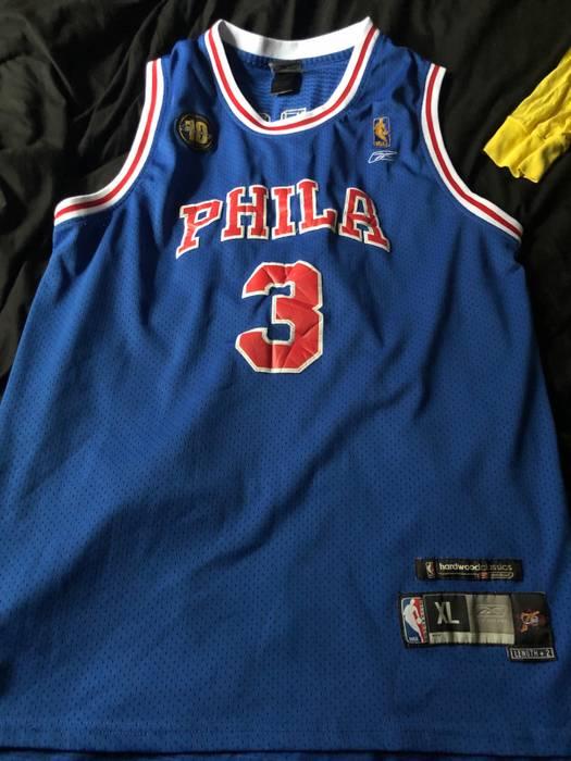 Reebok Allen Iverson Blue Old School 76ers Jersey Size xl - Jerseys ... 51a94f8d5ca9