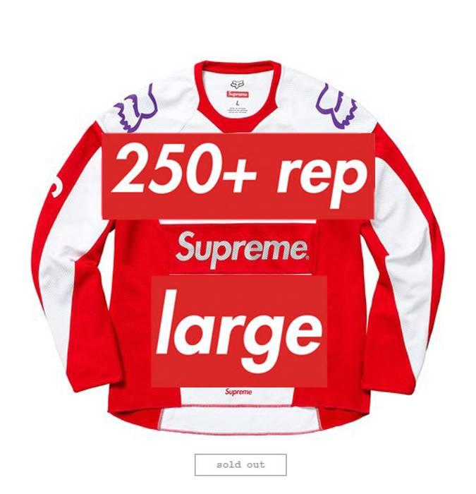 f345bc4b1081eb Supreme 250+ SALES Supreme Fox Racing Moto Jersey Top Red Large Fast  Shipping Travis Scott