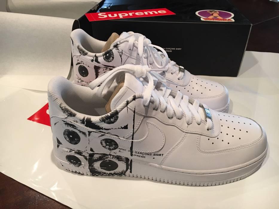 new styles 466e7 128bf Supreme Supreme X CDG X Nike Air Force 1 Low Size US 12  EU 45