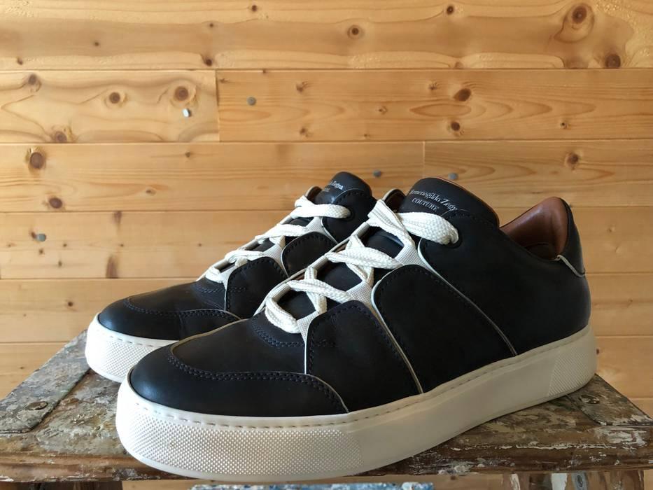 f27394566d9cf Ermenegildo Zegna Eremenegildo Zegna Blue Calf Tiziano Sneaker Size US 9    EU 42 - 2