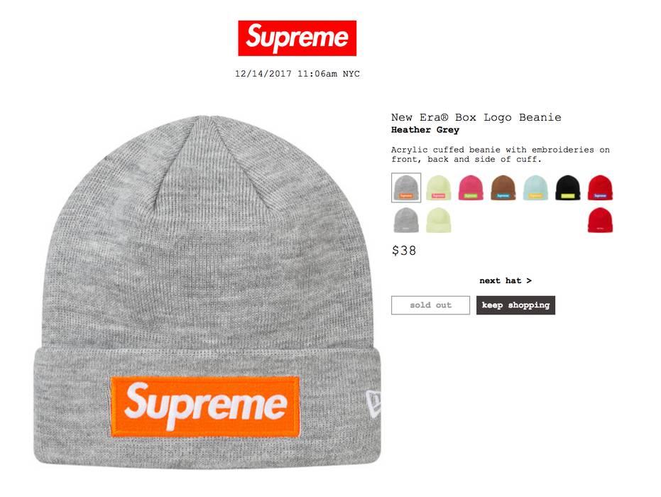 Supreme Grey Supreme New Era® Box Logo Beanie Size one size ... de969138c4