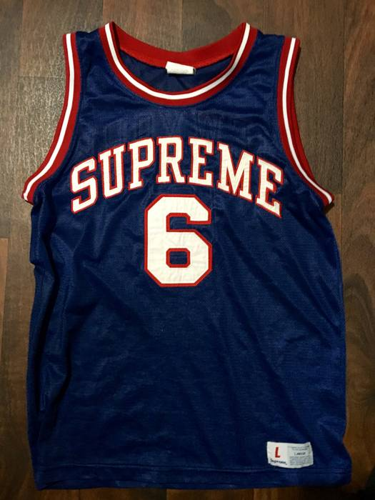982424a97 Supreme Supreme Blue Sixers Jersey Size m - Jerseys for Sale - Grailed