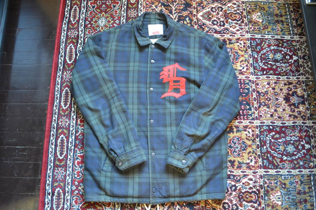 7b8bae2f0 Supreme coaches jacket in black watch Size m - Light Jackets for ...