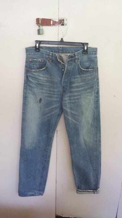 9035aaa1a5f Levi s Vintage Clothing 501 Distressed Selvedge Jeans Size 31 ...