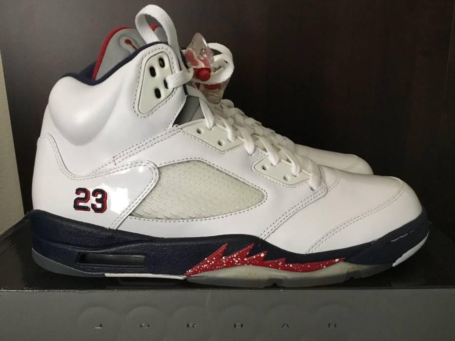 Jordan Brand Air Jordan 5 Olympic White Varsity Red Size 10.5 - Hi ... 2b580d16e