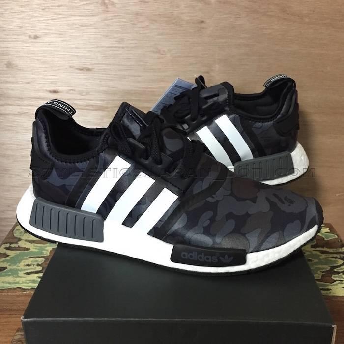 618f70b40dc0 Adidas DS! A Bathing Ape Bape x Adidas NMD R1 Black 9.5 Size 9.5 ...